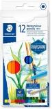 Creioane colorate acuarela Design Journey, 12 culori/set Staedtler