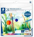 Creioane colorate acuarela Design Journey, 24 culori/set Staedtler