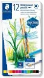 Creioane colorate acuarela Design Journey, cutie metal, 12/set Staedtler