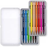 Creioane colorate acuarela Design Journey Pure Colour, cutie metal, 12 culori/set Staedtler