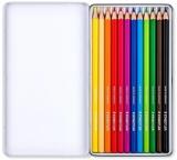 Creioane colorate Design Journey, cutie metal, 12 culori/set Staedtler