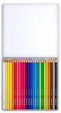 Creioane colorate Design Journey, cutie metal, 24 culori/set Staedtler