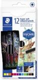 Creioane colorate Design Journey Super Soft, 12 culori/set Staedtler