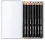 Creioane colorate Design Journey Super Soft, cutie metal, 12 culori/set Staedtler