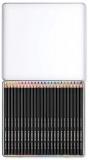 Creioane colorate Design Journey Super Soft, cutie metal, 24 culori/set Staedtler