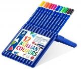 Creioane colorate acuarela Ergosoft Aquarell, cutie tip suport, 12 culori/set Staedtler