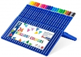 Creioane colorate acuarela Ergosoft Aquarell, cutie tip suport, 24 culori/set Staedtler