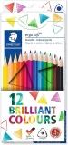 Creioane colorate Ergosoft, 12 culori/set Staedtler
