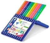 Creioane colorate Ergosoft, cutie tip suport, 6 summer + 6 neon/set Staedtler