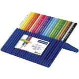 Creioane colorate Ergosoft, cutie tip suport, 24 culori/set Staedtler
