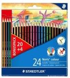 Creioane colorate Noris Colour, 20+4 culori/set Staedtler