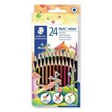Creioane colorate Noris Colour, 24 culori/set Staedtler
