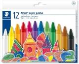 Creioane cerate colorate Noris Super Jumbo 12 culori/set Staedtler