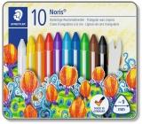 Creioane cerate colorate Noris Club, cutie metal, 10 culori/set Staedtler