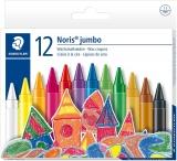 Creioane cerate colorate Noris Jumbo 12 culori/set Staedtler