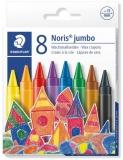 Creioane cerate colorate Noris Jumbo 8 culori/set Staedtler