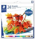 Creioane colorate 24 culori din ulei pastel Karat Staedtler
