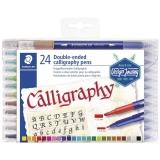 Marker caligrafic Design Journey Calligraphy, 2 capete, 24 culori/set Staedtler