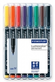 Marker permanent 1mm set 8 culori Lumocolor Staedtler