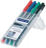 Marker permanent Lumocolor 0.6 mm 4 culori/set Staedtler
