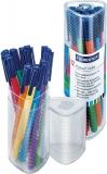 Carioci triunghiulare varf fibra Triplus Color, tub, 12 culori/set Staedtler