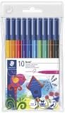 Carioci triunghiulare varf fibra Noris 10 culori/set Staedtler
