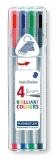 Fineliner 0.3 mm 4 culori/set Triplus 334 Staedtler