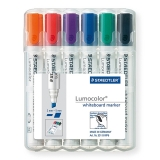 Marker whiteboard (tabla) varf tesit 2-5 mm set 6 culori Lumocolor 351B Staedtler