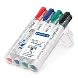 Marker whiteboard (tabla) varf tesit 2-5 mm set 4 culori Lumocolor 351B Staedtler