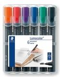 Marker permanent 2mm set 6 culori Lumocolor 352 Staedtler