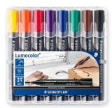 Marker permanent 2mm set 8 culori Lumocolor 352 Staedtler