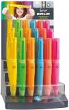 Creioane mecanice 0.7 mm, Bold, diverse culori, 36 buc/display Serve