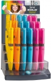 Creioane mecanice 0.9 mm, Bold, diverse culori, 36 buc/display Serve