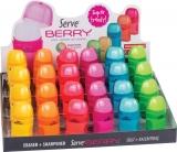 Berry Combo radiera + ascutitoare 24 bucati prezentare pe display expunere SERVE
