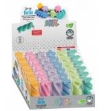 Radiera Burgo culori pastel 1 bucata/blister display 36 bucati SERVE