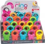 Ring Combo radiera + ascutitoare 23 bucati prezentare pe display expunere SERVE