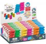 Radiera Steps culori fluorescente 2 bucati/blister display 18 bucati SERVE
