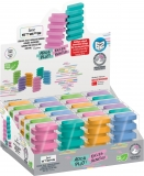 Radiera Steps culori pastel 1 bucata/blister display 24 bucati SERVE