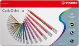 Creioane colorate CarbOthello cutie metal 60 culori/set Stabilo