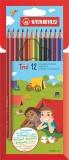 Creioane colorate Trio 12 bucati/set Stabilo