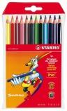 Creioane colorate 12 bucati Trio Stabilo