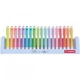 Textmarker Swing Cool Pastel, 18 culori/set Stabilo