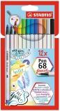 Carioca pen 68 Brush 12 culori/set Stabilo