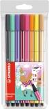 Carioca Pen 68, 1 mm, editie speciala Lama 8 culori/set Stabilo