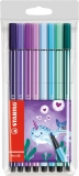 Carioca Pen 68, 1 mm, editie speciala Narwhal 8 culori/set Stabilo