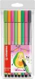 Carioca Pen 68, 1 mm, editie speciala Avocado 8 culori/set Stabilo