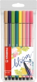 Carioca Pen 68, 1 mm, editie speciala Bloom 8 culori/set Stabilo
