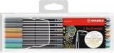 Carioca Pen 68, 1 mm, culori metalizate 6 culori/set Stabilo