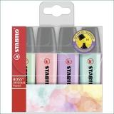 Textmarker Boss Original Pastel 4 culori/set Stabilo