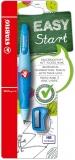 Creion retractabil EASYergo 3.15 mm dreptaci + ascutitoare albastru Stabilo